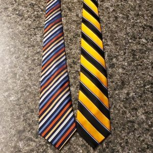 Blue and Orange Ties